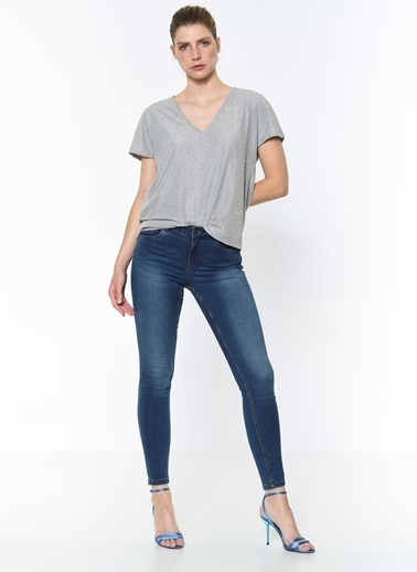 Vero Moda Bluz Gümüş
